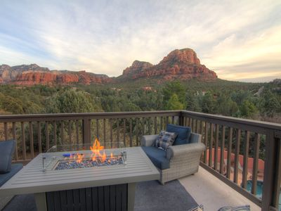 Photo for Resort Style Salt Pool Home -  Stunning Red Rock Views, Putting Green, Firepit
