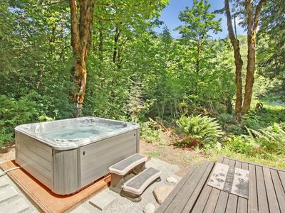 Photo for NEW LISTING! One-of-a-kind home w/riverfront views & private hot tub! Dogs ok!