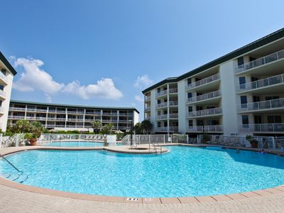 Photo for Gulf front 3 bedroom condo with balconies off each bedroom!