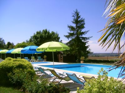 Photo for House / cottage / caravan in the village family vacation, quiet, pool, Auch Gers