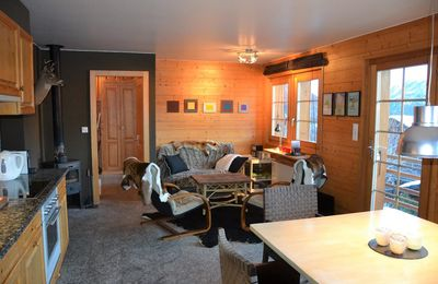 Photo for Outside : flat on the ground floor of a chalet, for 4 person, balcony/terrace -Inside : 63 sqm, open