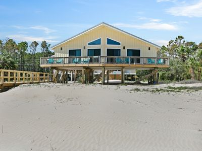 Photo for Dog-friendly beachfront home w/ panoramic ocean views from sundeck