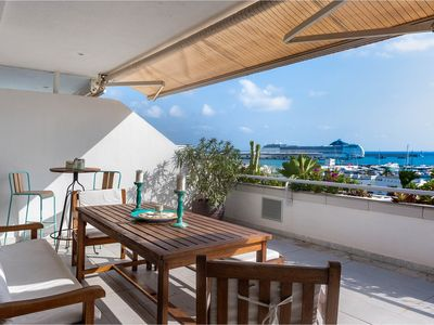Photo for Panoramic Penthouse Satori in Ibiza, central position, with 4 bedrooms, 8 sleeps