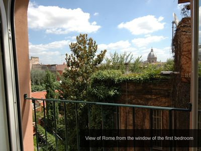 Photo for Rome: Apartment Rome, Trastevere / Navona, bright, panoramic view, 2 bedrooms, 2 bathrooms, air conditioning, WiFi, Satellite TV, all mod cons, renovated in 2011