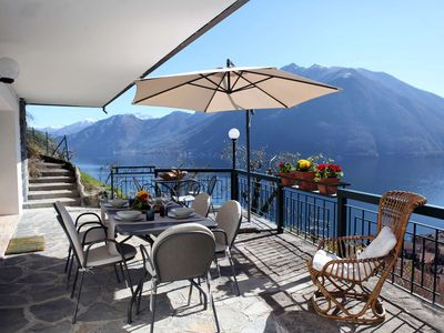 Photo for Panoramic villa with pool, Argegno, Lake Como