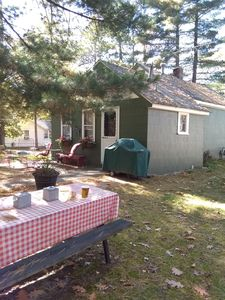 Photo for Cute 800 sq ft. cabin across the street from Long Lake.