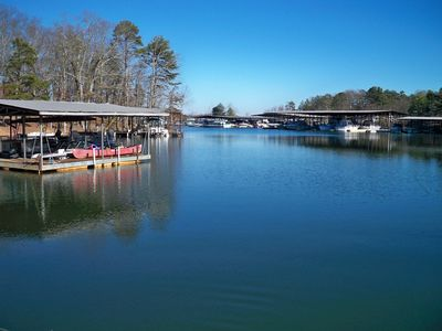 Quiet One and Two Bedroom Condos on Lake Lanier at Port Royale Marina