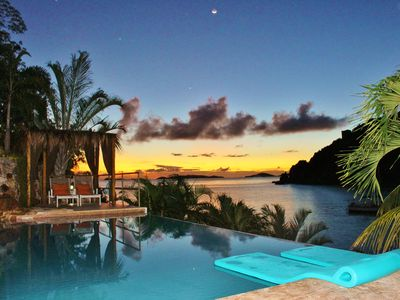 Photo for Oceanfront-Private Sand Beach, Infinity pool w Waterfall, Hot Tub,Kayaks,SUPS