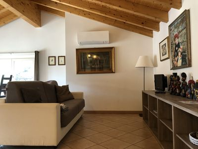 Photo for Apartment in villa sleeps 4, air conditioning, parking space, laundry