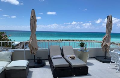 Photo for New to market, Oceanfront 3 bed condo on Seven Mile Beach