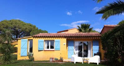 Photo for Mini villa 3 people, prox. Palombaggia beach, Sea View / Maquis / Pool