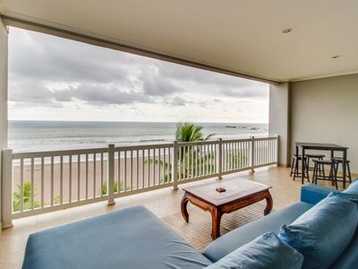 Photo for Elegant oceanfront condo w/ stunning views, easy beach access & shared pool!