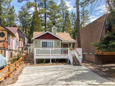 Photo for NEW LISTING! Cozy cabin with fireplace & loft - nearby skiing and beach access