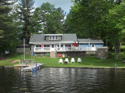 Lake W House on Panther lake,NY. Boat launch, dock , fire pit included.