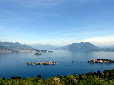 Breathtaking views of  the lake, the Borromean Islands and the Alps