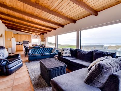 Photo for Dog-friendly, oceanfront home w/ great views, private hot tub, & beach access