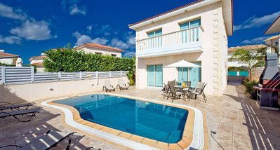 Photo for Protaras Deluxe Villa Tria is based only 200m from the beautiful resort of Protaras, on the south ea