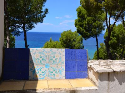 Photo for CasaMiaCasadiCharme1 Villa divided into 4 terraced apartments with sea view