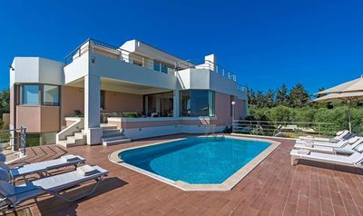 Photo for Seaview Luxury 6BR Villa In Platanias, 3 Minutes From Beach -ABSOLUTE PRIVACY