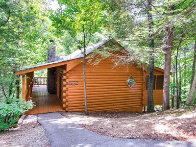 Photo for Beautiful Private 1 Bedroom Cabin that sleeps 4 in  beautiful Wears Valley!