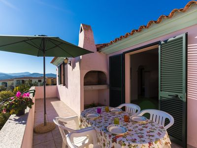 Photo for Sardinia - Three-room apartment with veranda overlooking the sea and private garden. (Budoni-Olbia)
