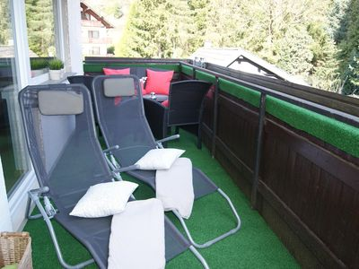 Photo for AusSicht2 - Beautiful apartment with large balcony 80m from the Rurseeufer
