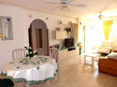 Photo for Gran Alacant, Carabassi Beach - 2 Bed Apartment Overlooking the Pool, Solarium