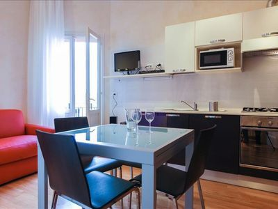Photo for Marconi IV apartment in Bologna with WiFi, integrated air conditioning, balcony & lift.