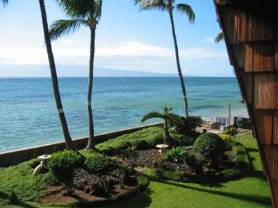 Photo for Steps to Ocean! Quiet, West Maui! Cute Hawaiian! Free wifi/parking. Kulakane 210
