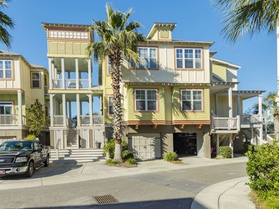 Photo for Back Bay #11. Folly Beach Townhouse 3 BR Walking Distance to Beach and Shops.