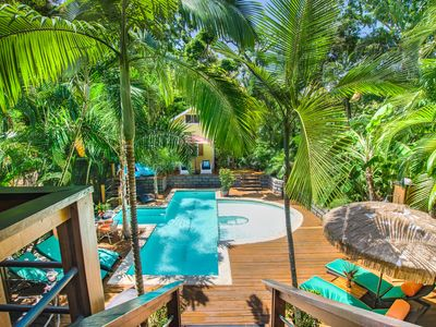 Photo for SPECTACULAR JUNGLE CANOPY TREE HOUSE WITH WATERFALL POOL & GYM!
