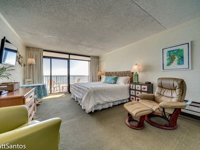 Photo for Charming and Cozy Hide-a-way for Two! Oceanfront, 5th Floor Efficency Sand Dunes