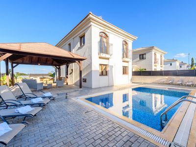 Photo for 4 bedroom villa in Kapparis with amazing sea views and private swimming pool