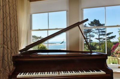Piano in the sitting room