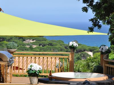 Photo for Panoramic sea view villa on the Gulf of Saint-Tropez