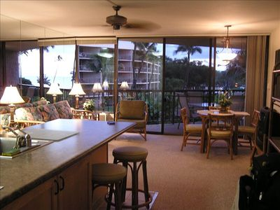 Our living/dining area with walk out to lanai unit A-314