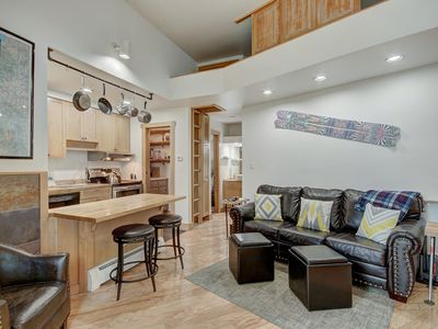 Photo for Slope Side Lodge Apt. Surrounded by Nature Steps to the Bus