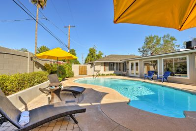 This stunning Phoenix vacation rental home features a sparkling pool!