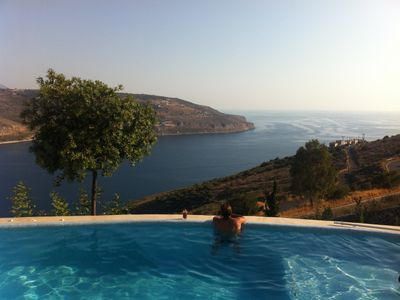 Photo for Private villa with swimming pool and panoramic views in Itilo, Mani
