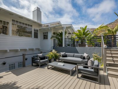 Photo for Walk to the best of Broad Beach.Designer home, great ocean views. Endless pool.