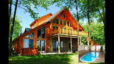 Photo for 5 BR, 4 1/2 BA Log Chalet, - WISP Mt., Boat Slip, Indoor Pool /Sauna, Hot Tub