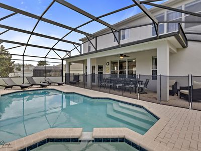 "Photo for *""BE OUR GUESTS""/Private luxury pool &spa/ RESORT home/NEW/2.5 MILES to DISNEY"