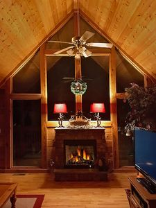 Photo for LUXURY NEW CABIN *See Fireworks @ Deck *WiFi*Pool*Mtn Views*Resort*2 King Suites