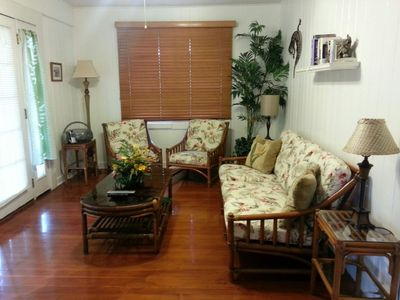 Living Room opens up to a wonderful lanai