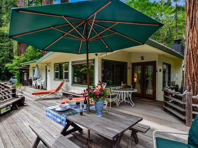 5-STAR HOME - FLEXIBLE CANCELLATION Creekside, Hot Tub/Outdoor Shower & Redwoods