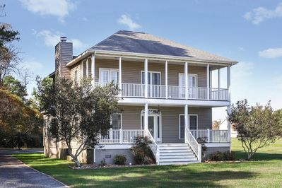 This stunning 4 Bedroom home directly faces the Chincoteague Bay.