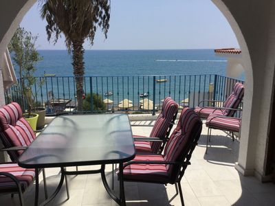 Photo for Beach front apartment in unique location