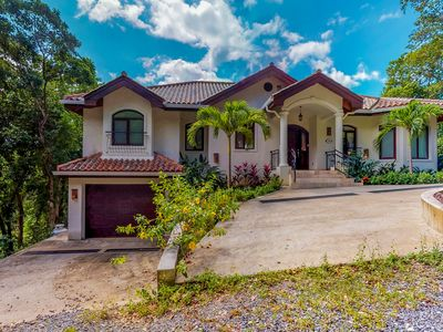 Photo for Luxury home w/ sea view, private pool, & large terrace plus beach access!