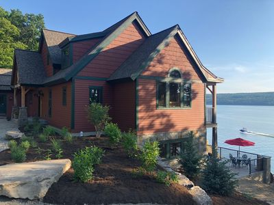 Photo for Newly built lake front estate on 6+ private acres 4 miles from Watkins Glenn