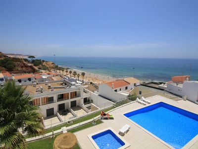 Photo for beautiful duplex (2 / 6pers) with sea front 10m from the beach - Albufeira